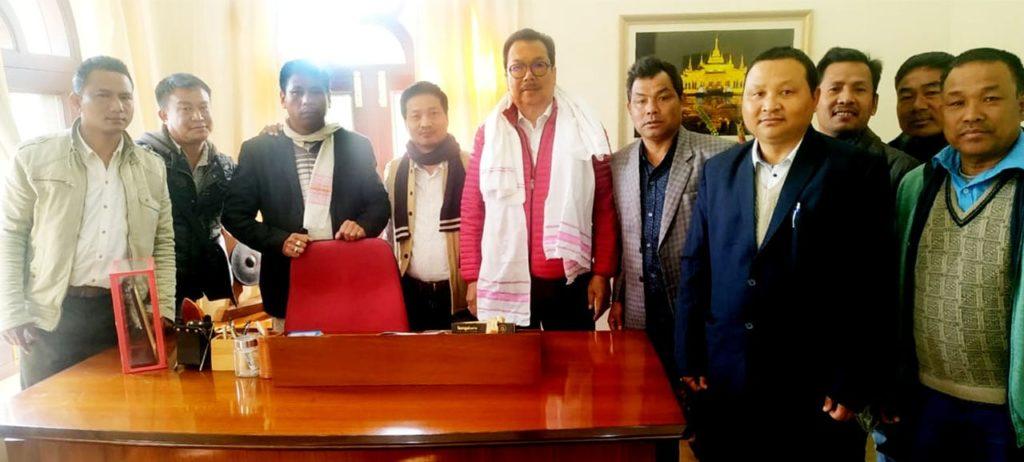 CRDO delegation with the Hon'ble DCM, AP Shri Chowna Mein